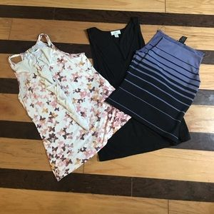 3 pcs sleeveless blouse